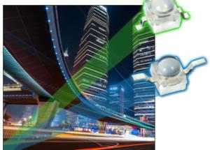 New Vishay Space-Saving Ultrabright LEDs Produce High Luminous Flux and Intensity