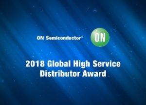 Mouser Electronics Named Global High Service Distributor of the Year by ON Semiconductor for Second Straight Year