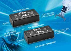 Flex Power Modules introduces ultra-wide-input DC-DC converters for Industrial and Railways applications