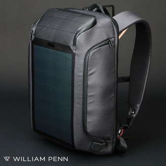 """Kingsons """"Beam Pack"""" Solar Backpack from William Penn stay charged in the greenest way!"""