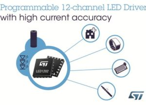 Programmable 12-channel RGB-LED Driver Enhances Lighting Effects for Smart Devices and Wearables
