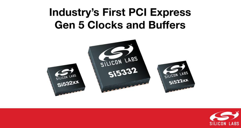 Industry's First PCI Express Gen 5 Clocks and Buffers Lead in Performance and Power