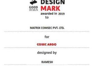 Matrix COSEC ARGO bags the coveted India Design Mark Award 2019