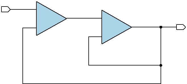 Figure 3. Composite amplifier at unity gain.