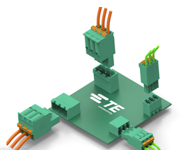 TE Connectivity Introduced BUCHANAN Push-In Clamp PCB Connectors
