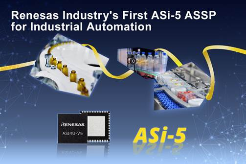Renesas Electronics Introduces Industry's First ASi-5 ASSP for Industrial Automation