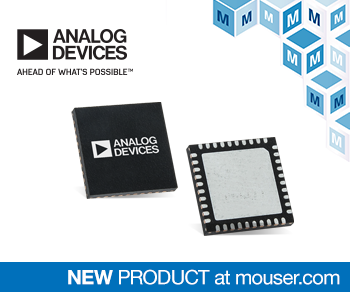 Mouser Electronics Now Stocking Analog Devices ADRF5545A RF Front End for Massive MIMO Designs