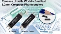 Renesas Electronics Announces World's Smallest Photocouplers for Industrial Automation and Solar Inverter Applications