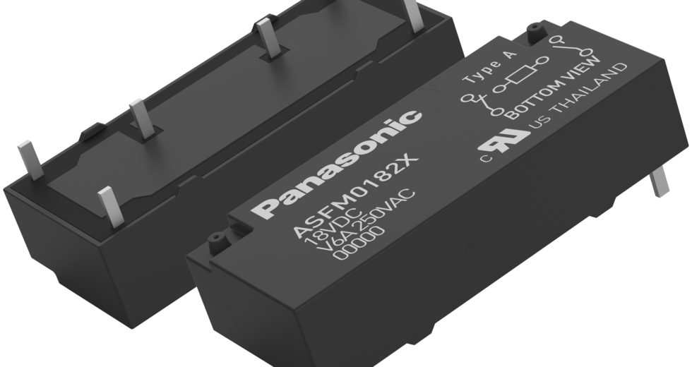 Panasonic Industry Europe introduces world's smallest 2pole safety relay with power contacts on NO and NC side