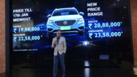 MG Motor India launches the ZS EV, the country's first pure electric internet SUV, at an inaugural price of INR 19.88 lakh