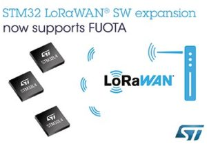 STMicroelectronics Adds Support for LoRaWAN® Firmware Update Over The Air in the STM32Cube Ecosystem