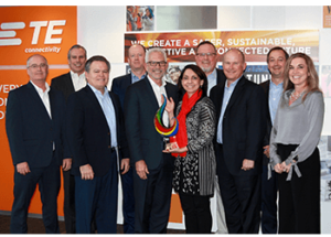 Mouser Electronics Named Global High Service Distributor of the Year by TE Connectivity