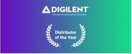 Mouser Electronics Named Distributor of the Year by Digilent