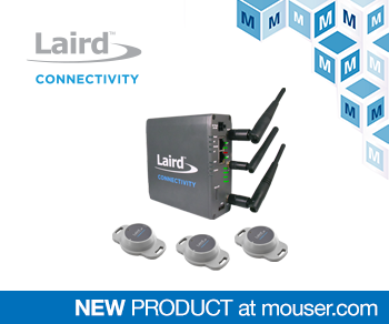 Mouser Electronics Now Stocking Laird Connectivity Sentrius IG60-BL654 Starter Kit with Three Bluetooth 5 Sensors