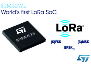STMicroelectronics STM32 System-on-Chip Accelerates Creation of Smart Devices with LoRa® IoT Connections