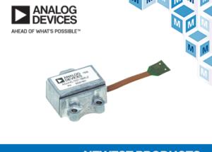 Mouser Electronics Now Stocking Analog Devices ADcmXL1021-1 Vibration Sensor