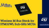 STMicroelectronics Expands STM32WL Wireless Microcontroller Ecosystem with wM-Bus Stack for Smart Metering from Stackforce