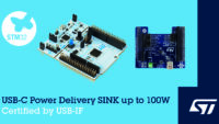 STMicroelectronics Extends USB Fast Charging over USB-C® to Embedded Applications with USB-IF-Certified Development Board