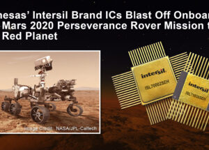 Renesas' Intersil Brand ICs Blast Off Onboard the Mars 2020 Perseverance Rover Mission to the Red Planet