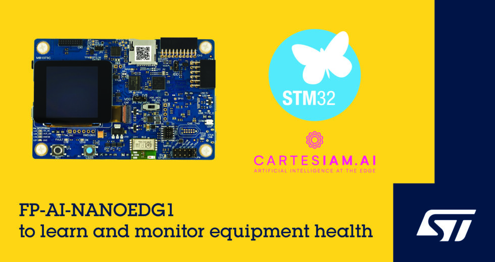 STMicroelectronics Releases STM32 Condition-Monitoring Function Pack Leveraging Tools from Cartesiam for Simplified Machine Learning
