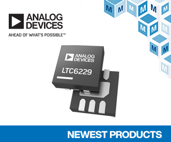 Analog Devices' LTC6228 and LTC6229 Op Amps, Now at Mouser