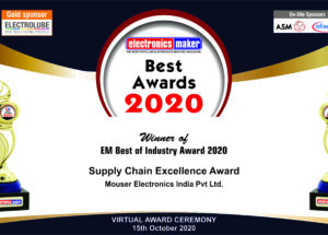 Mouser Electronics Honored with Supply Chain Excellence award
