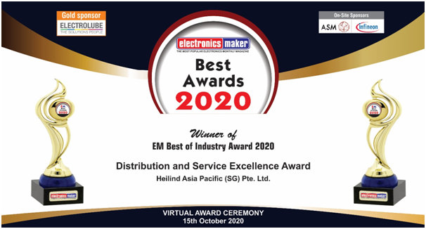 """Heilind Asia Pacific Wins the """"Distribution and Service Excellence Award 2020"""""""